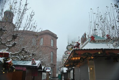 kerstmarkt Sneeuw 2012
